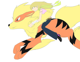 Arcanine and Vinla by lupie1324