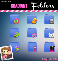 Gradiant Folders by ElsyTutorials