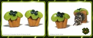 Clover Cupcake Studs by chat-noir