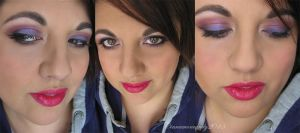 Purple/Pink Makeup by Cinnamoncandy