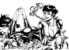 Catwoman stole my ink!! by SupermanOfToday