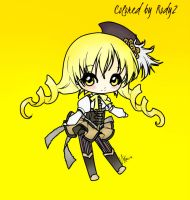 Chibi Mami Tomoe Colored by me by Rody2