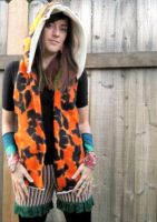 Fallicious Upcycled Reversible Fleece Scoodie by DewdropzGarden
