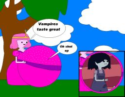 Young Bubblegum ate Young Marceline by ggault