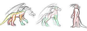 Moon Dragon Costume Concepts by ChaoticInsanity13