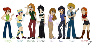 Starcrossed Character Line Up by Minxie777