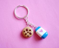 Milk and Cookies Key Chain by LittleMissDelicious