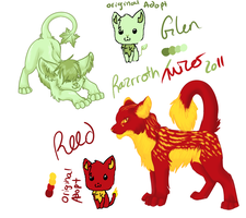 Reed and Glen Cat Ref by razrroth