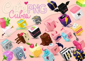 Cute Cubes PNG by Girlspng