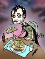 Goth Eating Pancakes by mogstomp