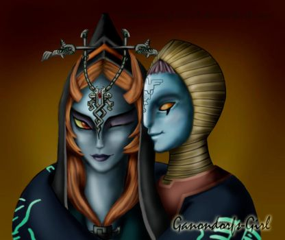 Zant x Midna -colored- by Anilede