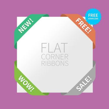 FREEBIE - Flat corner Ribbons for your website! by ramijames