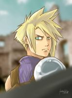 Fan Art: Cloud Strife by kuro-inu