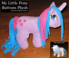 My Little Pony Buttons Plush by IchibanVictory