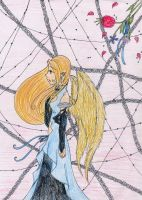 Lonely -Colored Pencil- by Twizz3985