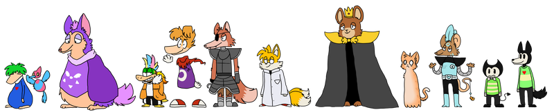 fandomtale character designs by HiImFromTransformice