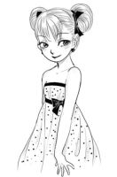 Dotted dress by solray-chan