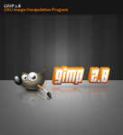 gimp 2.8 splash screen by monsoonami