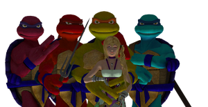 The Dark Turtles + Serah Alpha by SilverMoonCrystal