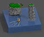 Voxel Cliffs by Mendelian