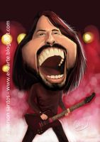 Dave Grohl - lead singer of the band Foo Fighters by endarte