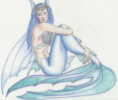 Blue Mermaid by waiting4mySunshine