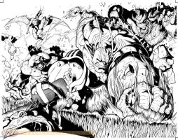 Hulk vs Dracula spread by RyanStegman