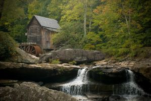 Babcock Mill in the Fall by kdennisnaz
