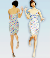 Basic Dress , Marvelous Design 2 by brenokisch