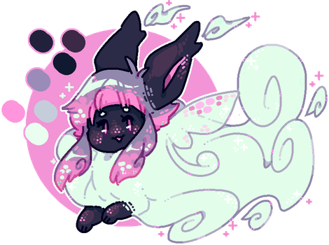 custom flufferbun: ghostly fae! by blushbun