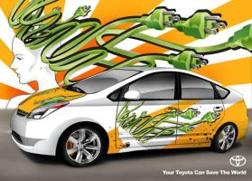 Prius Car Wrap Ad by ronaldesign