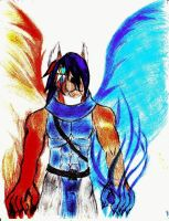 the blue haired elemental 1 by flametalon10