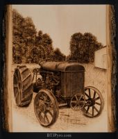 Tractor - Handcrafted Woodburning by brandojones