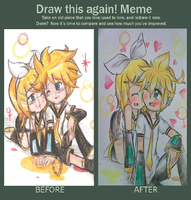 Draw this Again- Kagamine by BLEEDFan95