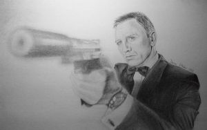 James Bond Drawing by darrenOhhh