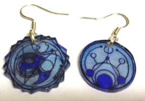 Doctor who Circular Gallifreyan Time Lord earrings by Lovelyruthie