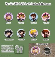 YGO pinback buttons by roseannepage