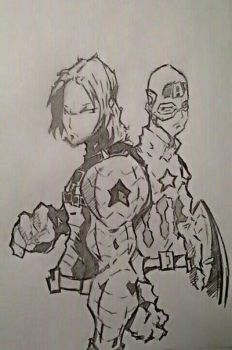 Captain America And The Winter Soldier: Civil War  by Tazartist19
