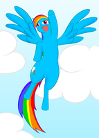Rainbow Dash by livinlovindude