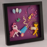 Pinkie Pie and Cheese Sandwich Shadow Box by elathera