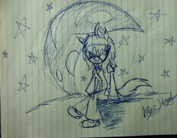 Ilse The White Wolf - Moon And Stars by SonicTHW93