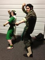 Zenkaikon 2012 Toph and Bolin by westen182