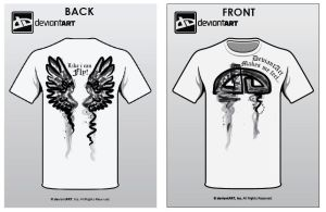 wings - t shirt design by gabriellexx