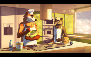 Cooking together by Suzamuri