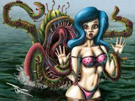 Betty and the Tenticle Monster by MirrorwoodComics