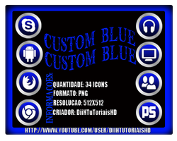 Icons Custom Blue - Exclusive 2012 by DiiHnaNeT