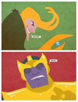 Loki and Thanos by Hartter