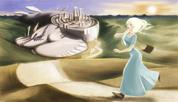 Natalie and the Dragon City by Suekat