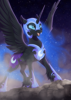 Nightmare Moon by dennyvixen