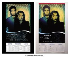 Calendario engrapado X-Files 2012 by rickymanson